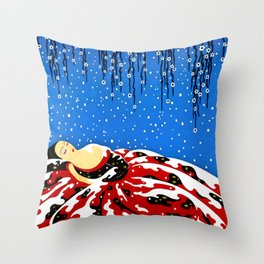 "Art Deco Design ""Beautiful Dreamer"" Throw Pillow"