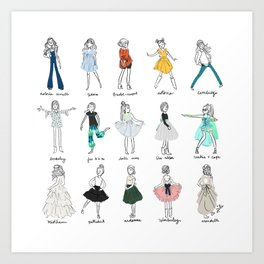 Lili's Sews: Collection 1 Art Print