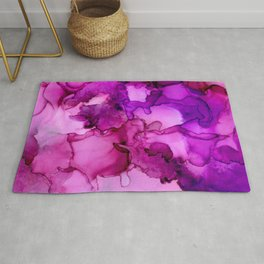 Mauve it or lose it- Abstract Painting Rug