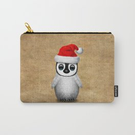 Baby Penguin Wearing a Santa Hat Carry-All Pouch