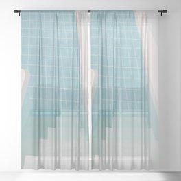 Swimming Pool Summer Sheer Curtain