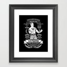 Vintage Boxing - Black Edition Framed Art Print