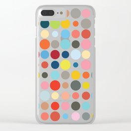 Tangled Up In Colour Clear iPhone Case