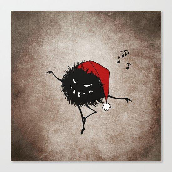 Dark Evil Christmas Bug Canvas Print