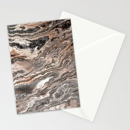 Brown Marble Texture Stationery Cards