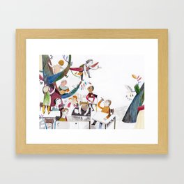 the classroom Framed Art Print