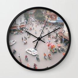 Traffic in Hanoi Wall Clock