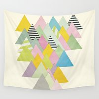 french Wall Tapestries featuring French Alps by Cassia Beck