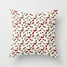 Cherry pattern . No. 1 Throw Pillow
