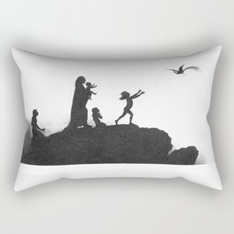 Karl Wilhelm Diefenbach - Per aspera ad astra 1 (1892) Rectangular Pillow