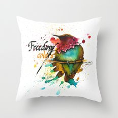 Freedom of colors Throw Pillow