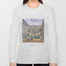 Paris art print Paris Decor office decoration vintage decor HOTEL DU LOUVRE of Paris Long Sleeve T-shirt