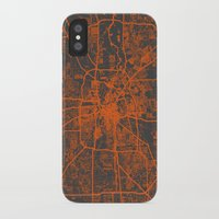 houston iPhone & iPod Cases featuring Houston map by Map Map Maps