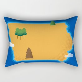 Iowa Island Rectangular Pillow