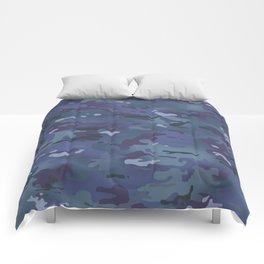 Camouflage: Deep Blue Comforters