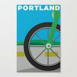 PDX Travel / Bike Canvas Print