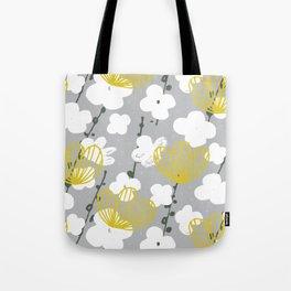 Japanese Garden Grey M+M Apple by Friztin Tote Bag