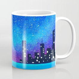 Far city under the stars Coffee Mug