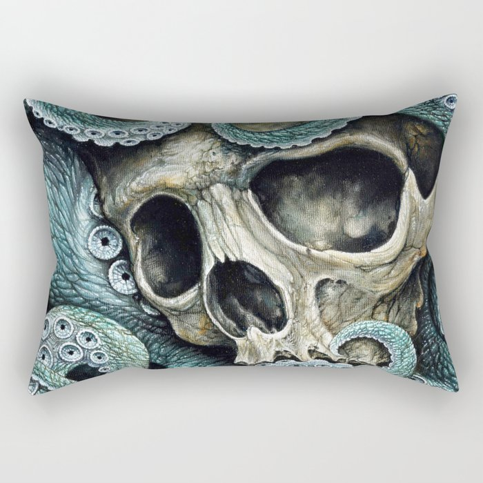 Please my love, don't die so far from the sea... Rectangular Pillow