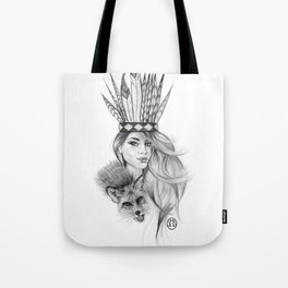 Foxes and Feathers Tote Bag