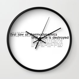 First Law of Thermodynamics Wall Clock