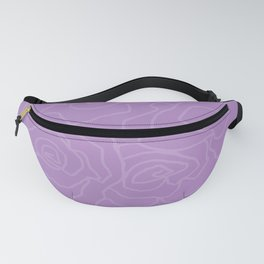 Lavender Dreams Roses - Medium with Light Outline Fanny Pack