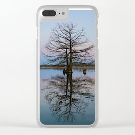 Tree Reflecting in Lake-I Clear iPhone Case