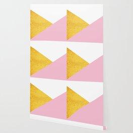 Gold & Pink Geometry Wallpaper