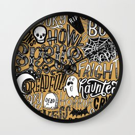 Have A Spoopy Halloween Wall Clock