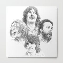 John, Paul, George & Ringo Metal Print