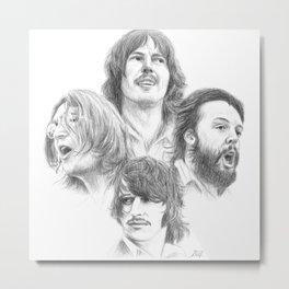 John, Paul, George & Ringo Metal Print