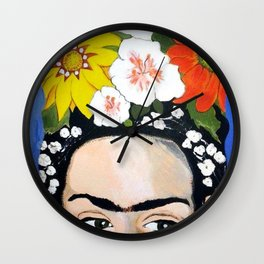 My Frida's Flowers Wall Clock