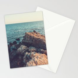 cliffs at sea in vintage colors Stationery Cards