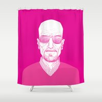 walter white Shower Curtains featuring Walter White by Ron Chan
