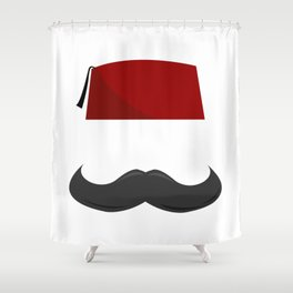 Man with a Fez Shower Curtain