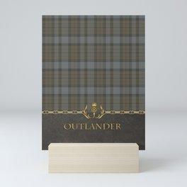 OUTLANDER TARTAN LEATHER Mini Art Print