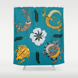 Southwestern Creatures Shower Curtain