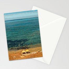 Lovers on Tramuntana Beach - Spain Stationery Cards