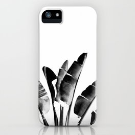 Traveler palm - bw iPhone Case