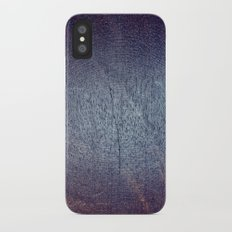 Violet and Purple Wood Texture iPhone X Slim Case