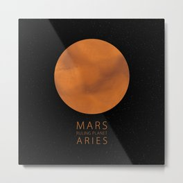 Aries - Ruling Planet Mars Metal Print
