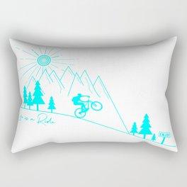 mountain bike MTB cycling mountain biker cycling bicycle cyclist gift Rectangular Pillow