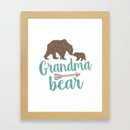 Grandma Bear Mothers Day Gift Framed Art Print
