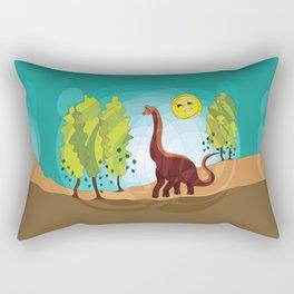 Happy Brachiosaurus Rectangular Pillow