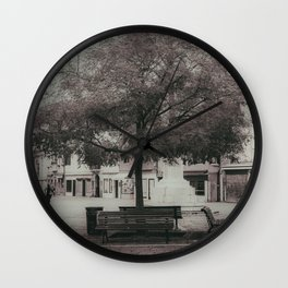 Under the tree campo santa margherita Venice Italy Wall Clock