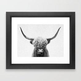 Scottish Highland Cow Framed Art Print