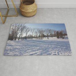Snowy field Rug