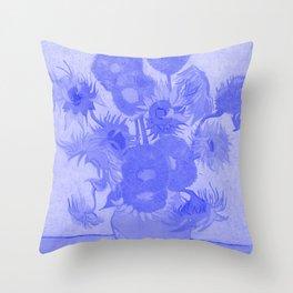 Sunflowers Vincent Van Gogh Japanese Porcelain Concept Throw Pillow