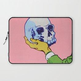 Man Holding Skull Laptop Sleeve