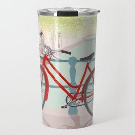 Amsterdam Canal Bike Travel Mug